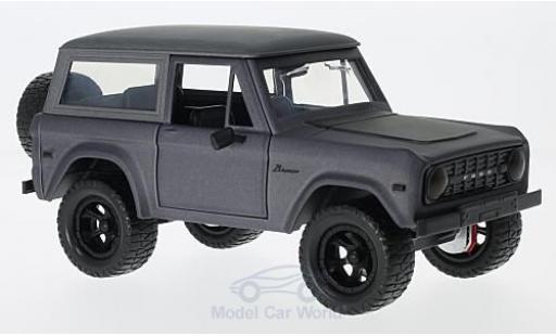 Ford Bronco 1/24 Jada Hardtop métallisé grise/matt-noire 1973 ohne Vitrine miniature