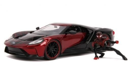 Ford GT 1/24 Jada rot/schwarz Spider-Man - Miles Morales 2017 mit Figur modellautos