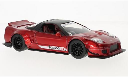 Honda NSX 1/24 Jada Toys Type-R metallise rouge/noire RHD 2002 Japan Spec - Widebody miniature