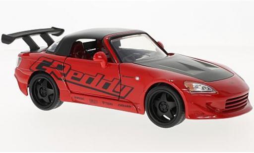 Honda S2000 1/24 Jada Toys rouge/noire 2001 miniature