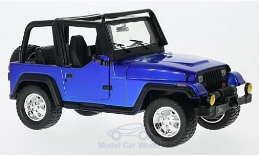Jeep Wrangler 1/24 Jada Toys blue 1992 ohne Vitrine diecast model cars