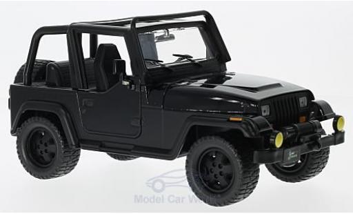 Jeep Wrangler 1/24 Jada Toys noire 1992 ohne Vitrine miniature