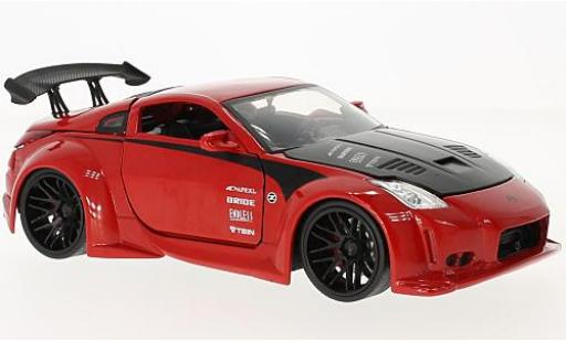 Nissan 350Z 1/24 Jada Toys red/black 2003 diecast model cars