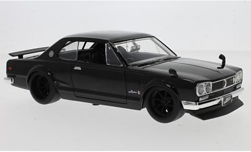 Nissan Skyline 1/24 Jada 2000 GT-R (KPGC10) schwarz RHD Fast & Furious modellautos