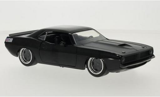Plymouth Barracuda 1/24 Jada Tuning noire/matt-grise Fast & Furious 1970 miniature