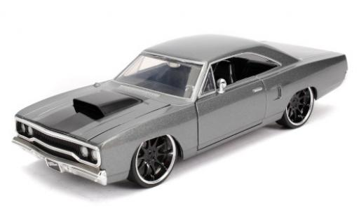 Plymouth Road Runner 1/24 Jada Tuning metallise grise/matt-noire Fast & Furious 1970 miniature