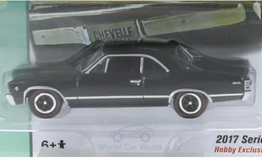 Chevrolet Chevelle 1967 1/64 Johnny Lightning noire miniature