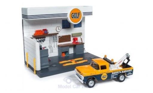 Ford F-250 1/64 Johnny Lightning Abschleppwagen Gulf 1959 Werkstattdiorama miniature