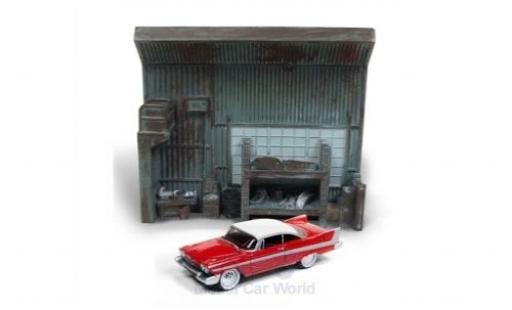 Plymouth Fury 1/64 Johnny Lightning Christine 1958 mit Diorama miniature