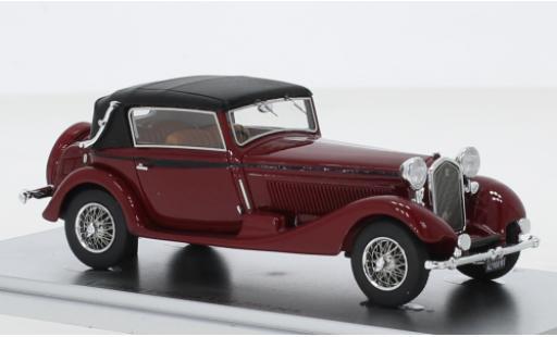 Alfa Romeo 6C 1/43 Kess 1750 GTC Castagna rouge/noire RHD 1931 Verdeck fermé miniature