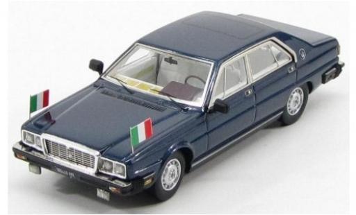 Maserati Quattroporte 1/43 Kess III 4.9 Presidential metallise bleue 1983 Pertini miniature