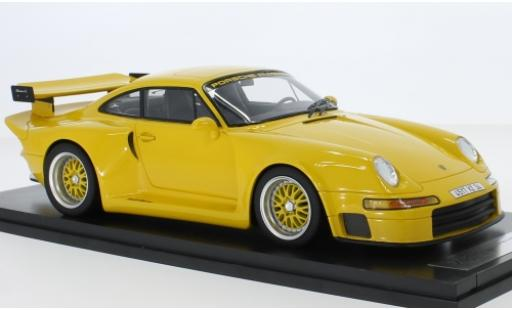 Porsche 993 1/18 Kess 911  Almeras yellow diecast model cars