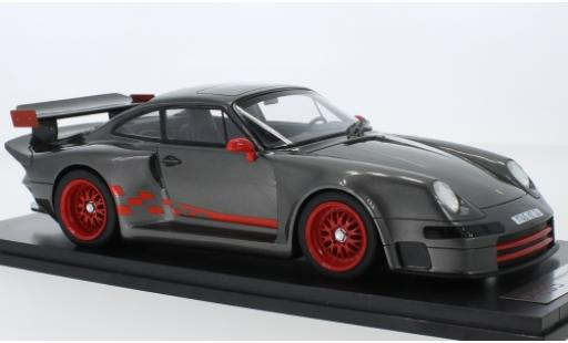 Porsche 993 1/18 Kess 911  Almeras metallise grise miniature