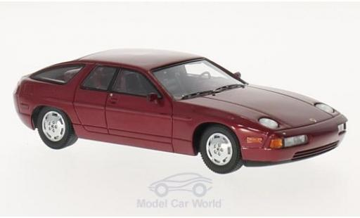 Porsche 928 1/43 Kess Custom Factory metallise rouge 1986 4 door Sedan miniature