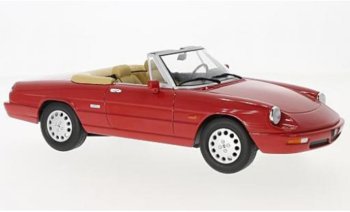 Alfa Romeo Spider 1/18 KK Scale 4 rouge 1990 miniature
