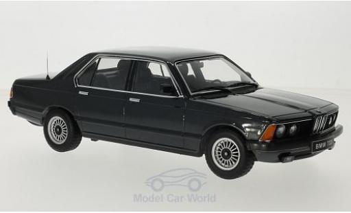 Bmw 733 1/18 KK Scale i (E23) metallise nero 1977 Türen und Hauben sind nicht zu öffnen modellino in miniatura