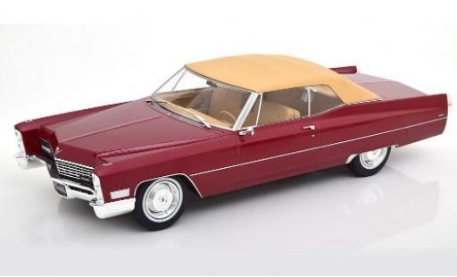 Cadillac Deville 1/18 KK Scale DeVille Convertible metallise rouge/beige 1967 Verdeck fermé miniature