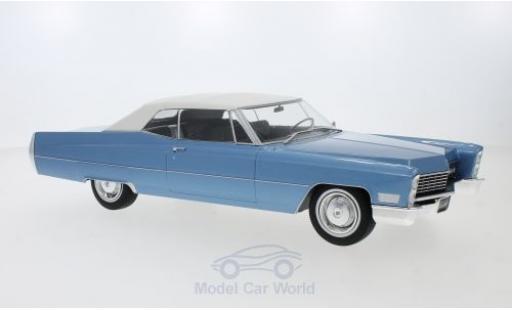 Cadillac Deville 1/18 KK Scale DeVille Convertible metallise bleue/blanche 1968 mit Softtop miniature