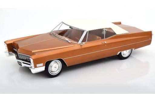 Cadillac Deville 1/18 KK Scale DeVille Convertible metallise marron/blanche 1967 Verdeck fermé miniature