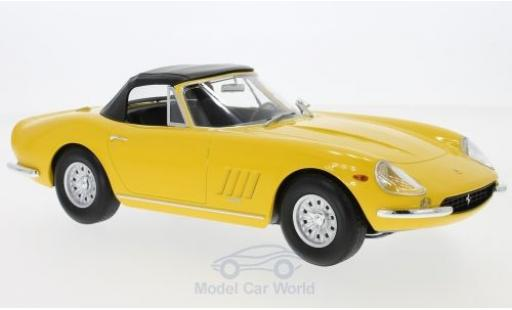 Ferrari 275 1/18 KK Scale GTB/4 NART Spyder yellow 1967 Softtop liegt ein diecast model cars