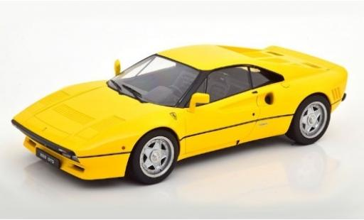 Ferrari 288 1/18 KK Scale GTO yellow 1984 diecast model cars