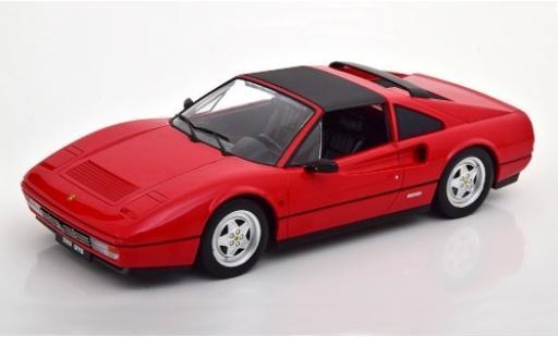 Ferrari 328 1/18 KK Scale GTS red 1985 Targadach détachable diecast model cars