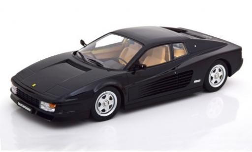 Ferrari Testarossa 1/18 KK Scale black 1986 diecast model cars