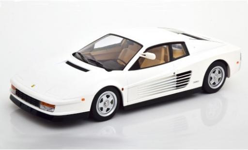 Ferrari Testarossa 1/18 KK Scale blanche 1984 Monospecchio US-Version miniature