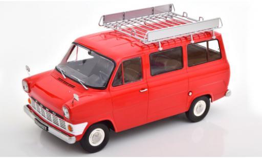 Ford Transit 1/18 KK Scale MK 1 Bus red 1965 avec Rack de toit diecast model cars