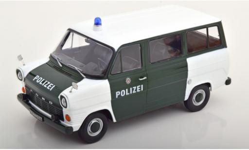 Ford Transit 1/18 KK Scale MK 1 Bus white/green Polizei Hamburg 1965 diecast model cars