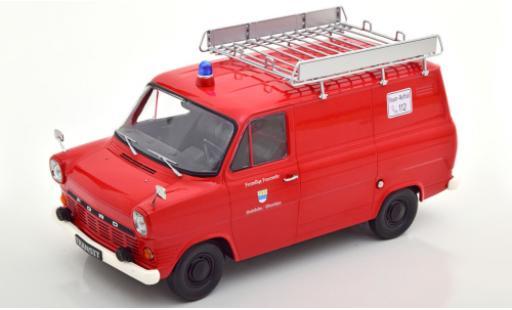 Ford Transit 1/18 KK Scale MK 1 Kasten red Feuerwehr Stadtlohn 1965 avec Rack de toit diecast model cars