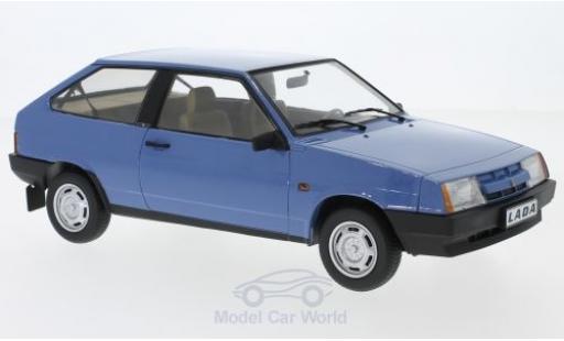 Lada Samara 1/18 KK Scale bleue 1984 miniature