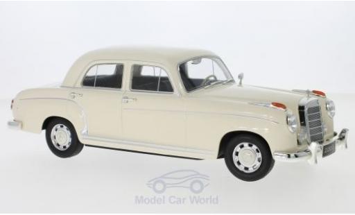 Mercedes 220 1/18 KK Scale S Limousine (W180 II) beige 1956 miniatura