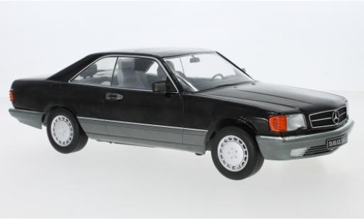 Mercedes 560 1/18 KK Scale SEC (C126) black 1985 diecast model cars