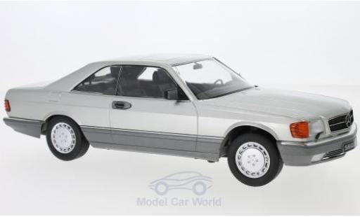 Mercedes 560 1/18 KK Scale SEC (C126) grise 1985 miniature