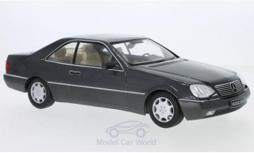 Mercedes 600 1/18 KK Scale SEC (C140) metallise anthrazit 1992 miniature