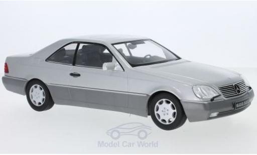 Mercedes 600 1/18 KK Scale SEC (C140) grey 1992 diecast model cars