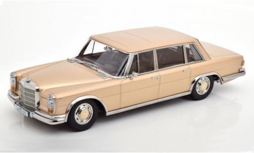 Mercedes 600 1/18 KK Scale (W100) gold 1963 diecast model cars