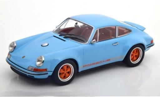 Porsche 911 1/18 KK Scale Singer bleue/Dekor miniature