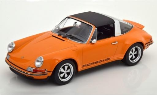 Porsche 911 1/18 KK Scale Targa Singer orange/Dekor Targadach détachable miniature
