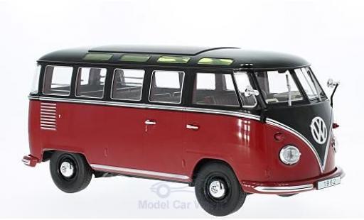 Volkswagen T1 B 1/18 KK Scale rouge/noire 1962 Samba miniature