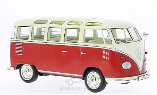 Volkswagen T1 B 1/18 KK Scale rouge/hellbeige 1962 Samba miniature