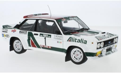 Fiat 131 1/18 Kyosho Abarth No.1 Alitalia Alitalia Rallye WM Rally Portugal 1978 S.Munari/P.Sodano coche miniatura