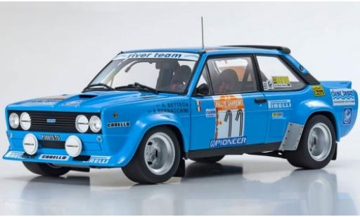 Fiat 131 1/18 Kyosho Abarth No.11 River Team Rallye WM Rallye Sanremo 1980 A.Bettega/A.Bernacchini diecast model cars