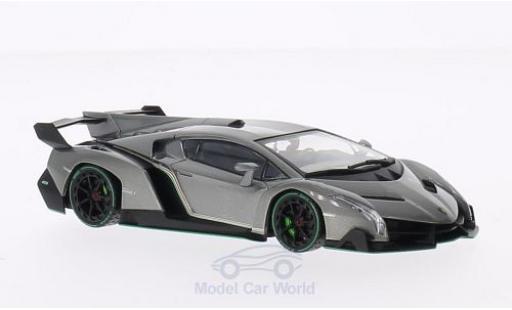 Lamborghini Veneno 1/43 Kyosho metallise grise/verte miniature