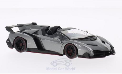Lamborghini Veneno 1/43 Kyosho Roadster metallise grise/verte miniature