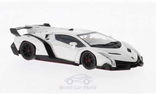 Lamborghini Veneno 1/43 Kyosho bianco mit rossoem Dekorstreifen modellino in miniatura
