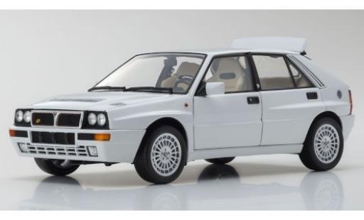 Lancia Delta 1/18 Kyosho HF Integrale Evoluzione II blanco coche miniatura