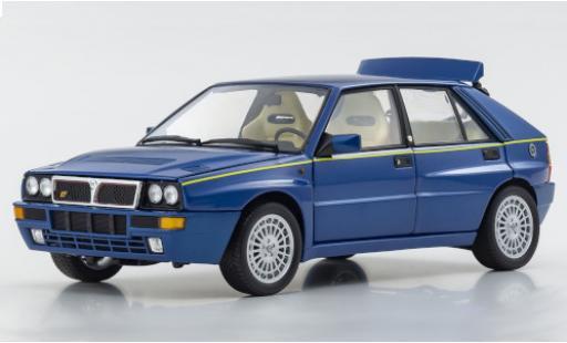 Lancia Delta 1/18 Kyosho HF Integrale metallise blue/yellow diecast model cars