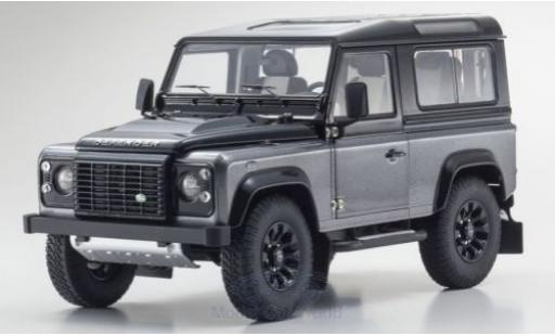 Land Rover Defender 1/18 Kyosho 90 Final Edition gris coche miniatura